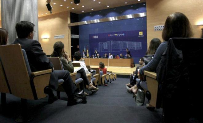 Celebración de un concurso de acreedores en los juzgados de Valencia.