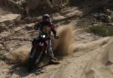 Barreda durante uno de los tramos sobre dunas.