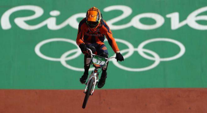 Van Gorkom, en acción, durante los Juegos de Río.