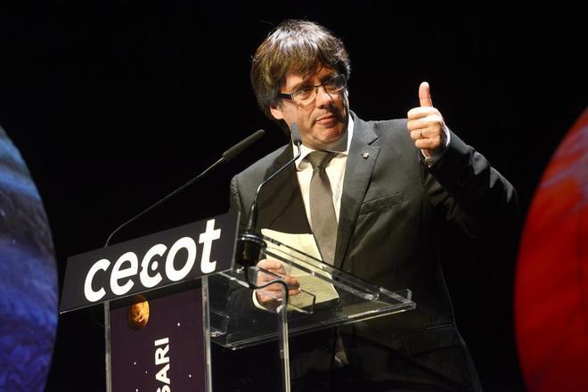 Puigdemont, en un acto celebrado en Barcelona el pasado octubre.