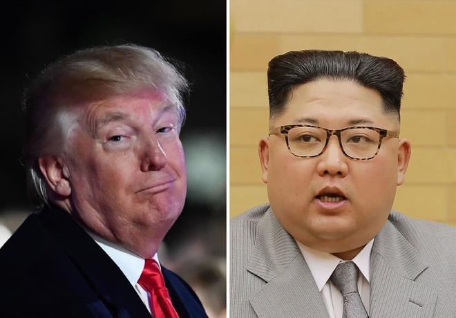 El presidente de EEUU Donald Trump y el líder norocoreano Kim Jong-un.