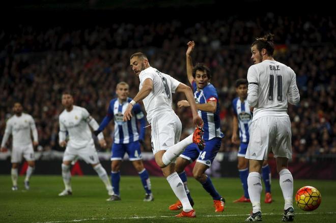 Benzema y Bale en un enfrentamiento anterior entre Real Madrid y...