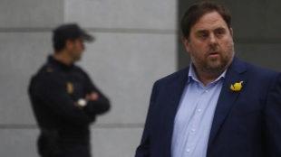 Oriol Junqueras, en la Audiencia Nacional el pasado noviembre.