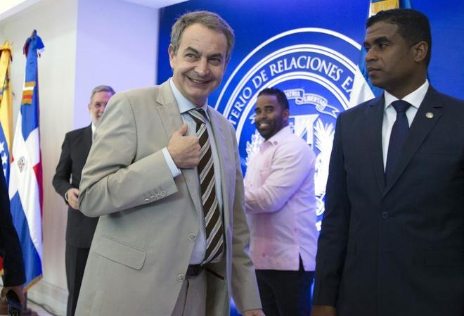 El ex presidente José Luis Rodríguez Zapatero, en Santo Domingo.
