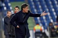 El ya ex entrenador del Málaga, Míchel, en el partido de Liga ante el Getafe.