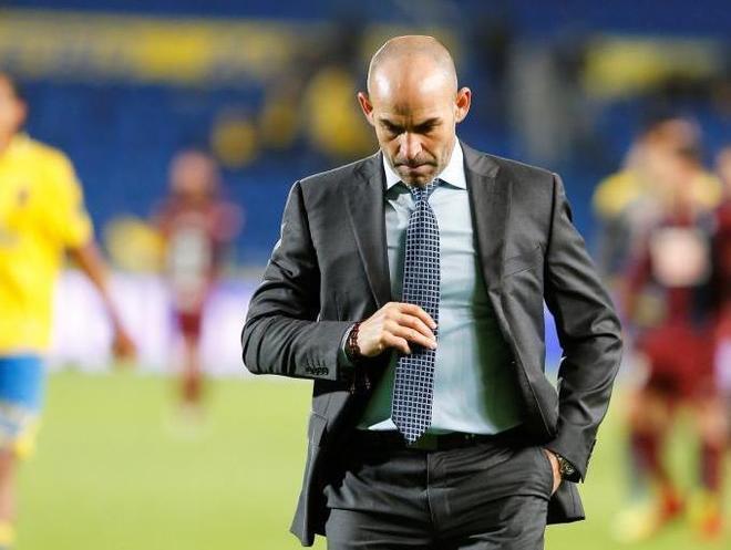Paco Jémez, durante el último partido jugado en Gran Canaria.
