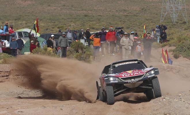 Sainz durante la especial de la etapa del domingo.