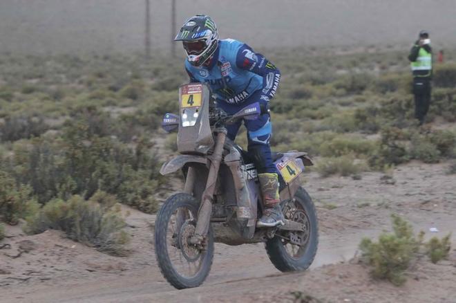 El francés Adrien Van Beveren, durante la octava etapa del rally...
