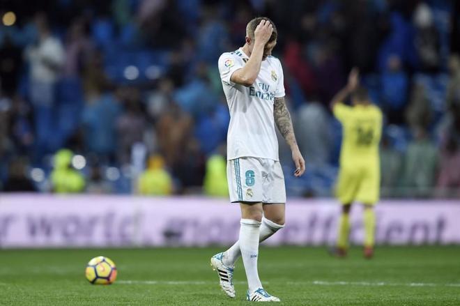Tony Kroos, tras la derrota del Real Madrid ante el Villarreal en el...