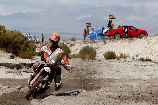 Laia Sanz, durante la octava etapa del Dakar.