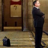 El ex presidente del Palau de la Música Joan Llinares, en el...