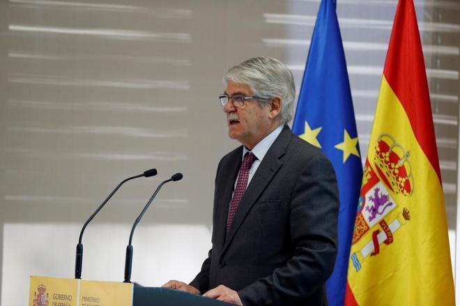 Alfonso Dastis, este lunes, durante el balance de la actividad consular durante 2017.