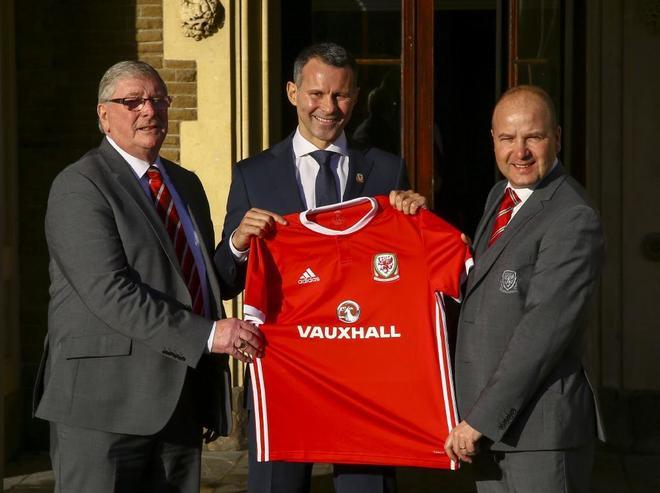 Giggs, durante su presentación como nuevo seleccionador galés.