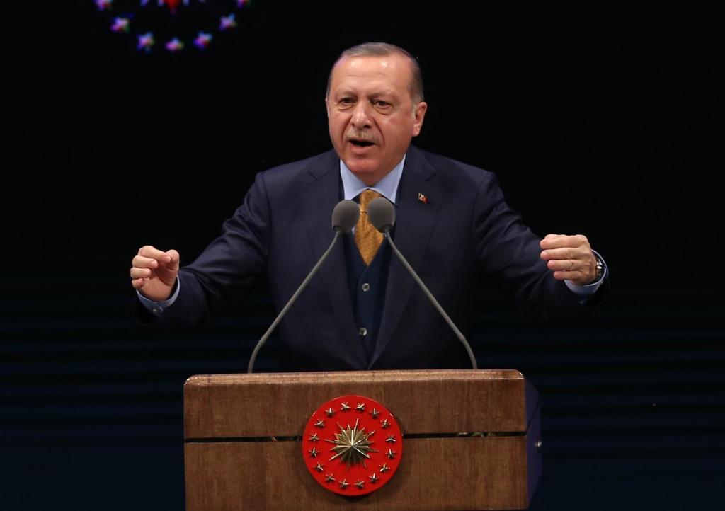 El presidente turco, Recep Tayyip Erdogan, DA U