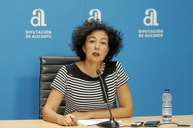 La diputada provincial de Alicante de EU, Raquel Pérez.