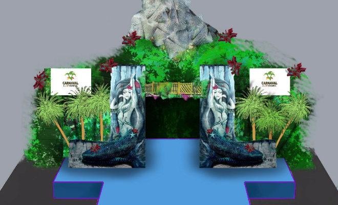 Recreación virtual del escenario.