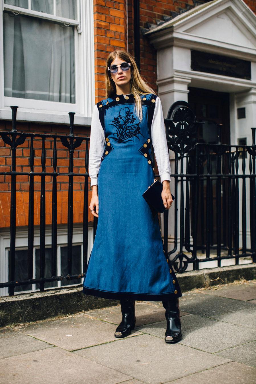 Verónica Heilbrunner en la semana de la moda de Londres