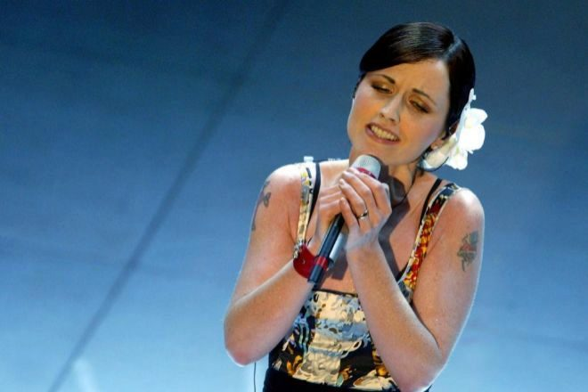 Dolores O'Riordan durante su actuación en el Festival de la canción...