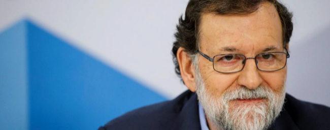 Mariano Rajoy, ayer, durante la reunión de la Junta Directiva del PP.