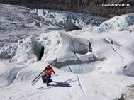 Alex Txikon equipando la ruta de ascensión al Everest.