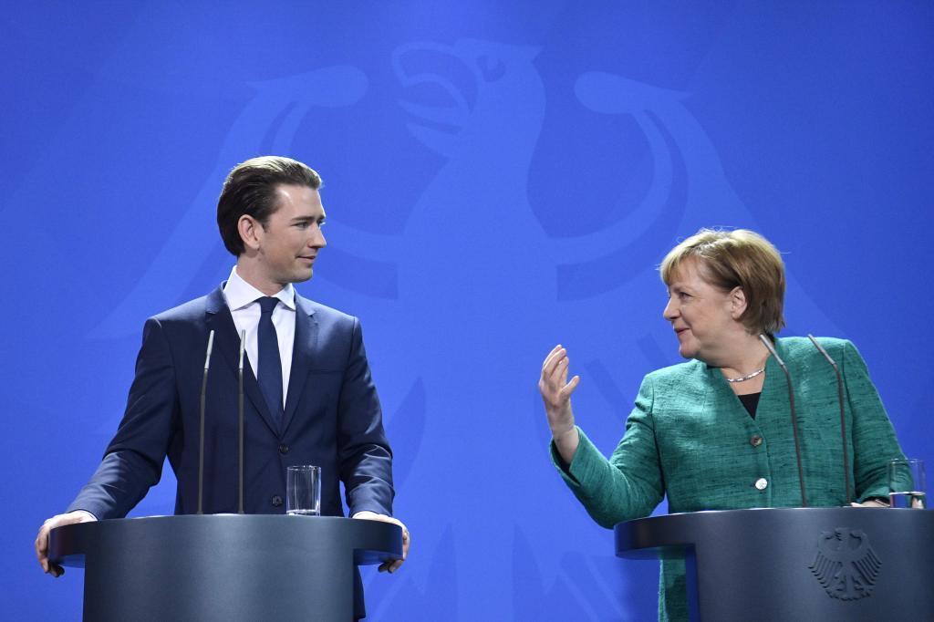 Angela Merkel marca diferencias con Sebastian Kurz, pero dice que le juzgará por sus hechos