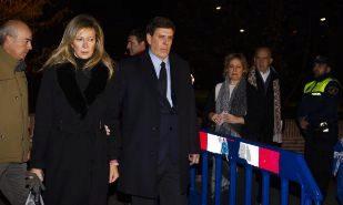 Los padres de Diana Quer, Diana López-Pinel y Juan Carlos Quer, a su...