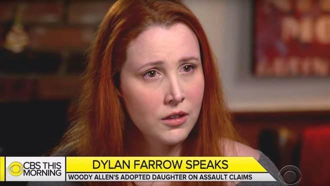 Dylan Farrow, este jueves, durante la entrevista en 'CBS This...