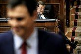 El presidente del Gobierno, Mariano Rajoy, tras la intervención de...