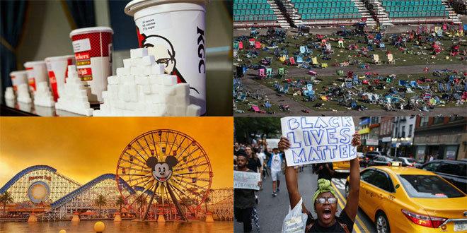 El problema con el azúcar, el tiroteo de Las Vegas, los incendios en California o el movimiento 'Black Lives Matter' también tuvieron protagonismo en EEUU en 2017.