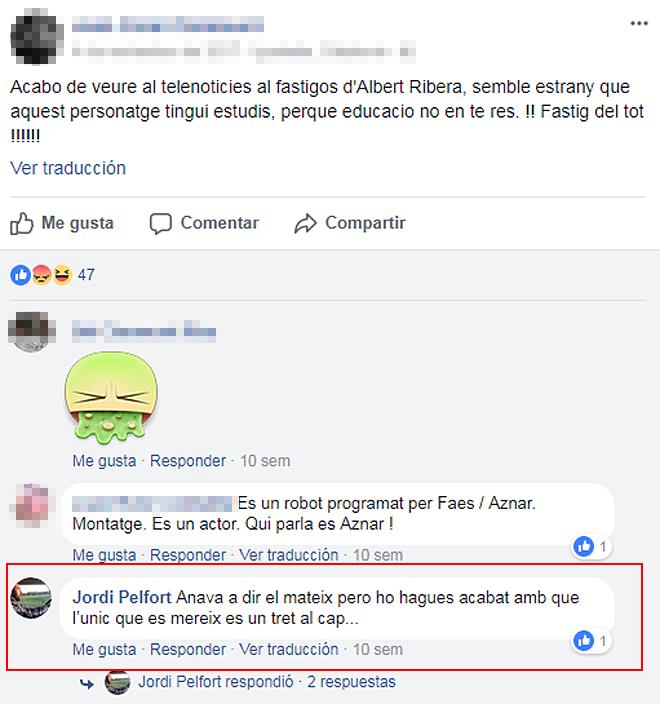 DETIENEN A UN HOMBRE POR AMENAZAR DE MUERTE A ALBERT RIVERA