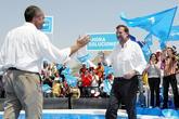 Francisco Camps y Mariano Rajoy, en la campaña de las elecciones...