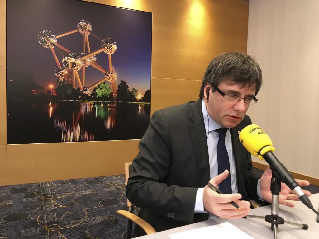Carles Puigdemont habla con Catalunya Ràdio este viernes desde...