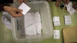 Recuento de la votación el pasado 1 de octubre.