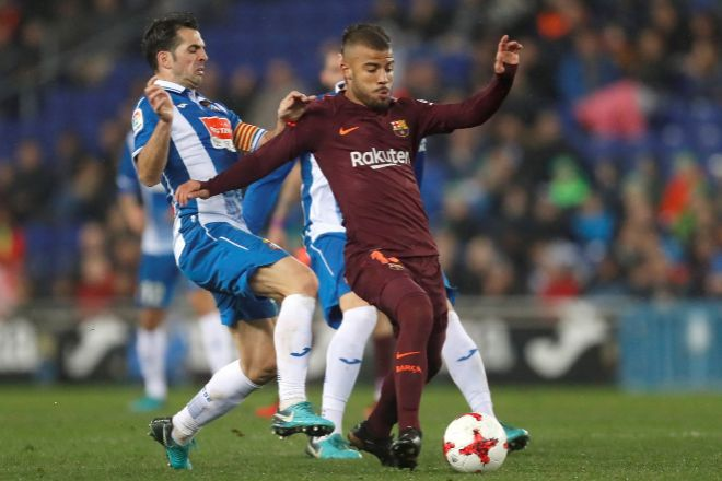 Rafinha, en su último partido con el Barcelona contra el Espanyol.