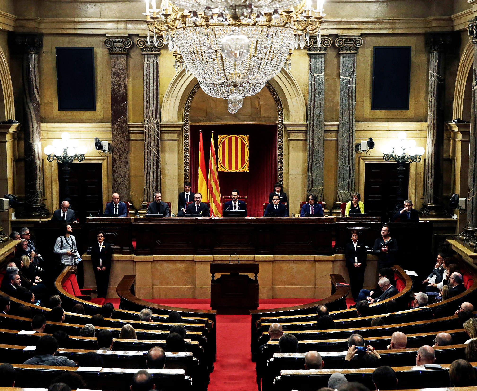 Imagen del Parlamento de Cataluña durante la sesión constitutiva del...