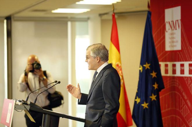 El presidente de la Comisión Nacional del Mercado de Valores (CNMV), Sebastián Albella.