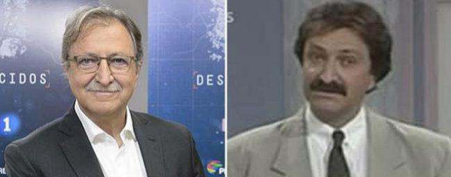 Paco Lobatón, en una imagen reciente a la izquierda, y en otra de los...