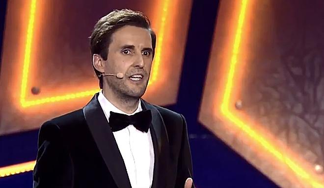 El cómico Julián López, en un momento de los Premios Feroz.