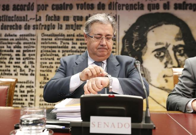 Juan Ignacio Zoido, la pasada semana en el Senado.