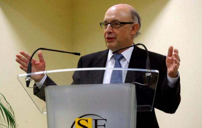 El ministro de Hacienda, Cristóbal Montoro, en una intervención el lunes en Madrid.