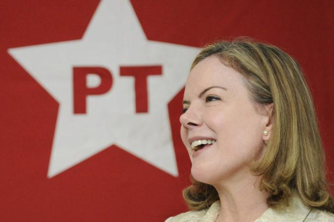 La presidenta del Partido de los Trabajadores de Brasil, Gleisi Hoffmann.