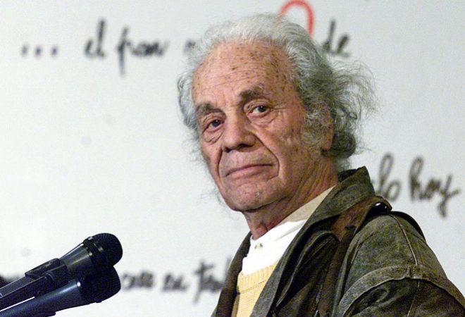 El poeta chileno Nicanor Parra, que falleció ayer a los 103 años
