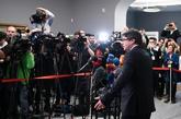 Carles Puigdemont durante una rueda de prensa tras la reunión con...
