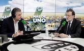 Mariano Rajoy, esta mañana con el periodista Carlos Alsina.