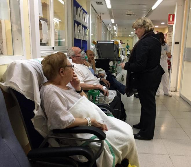 Un hospital saturado por casos de gripe.