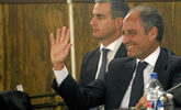 El ex presidente de la Generalitat Francisco Camps, junto a Ricardo...