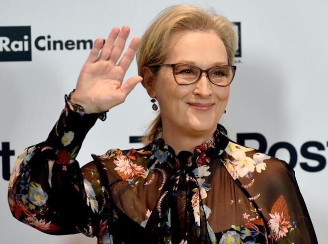 Meryl Streep, el 15 de enero en la presentación de 'Los papeles del Pentágono'.