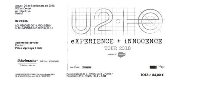 La polémica sobre la reventa de entradas se reaviva con el concierto de U2 en Madrid