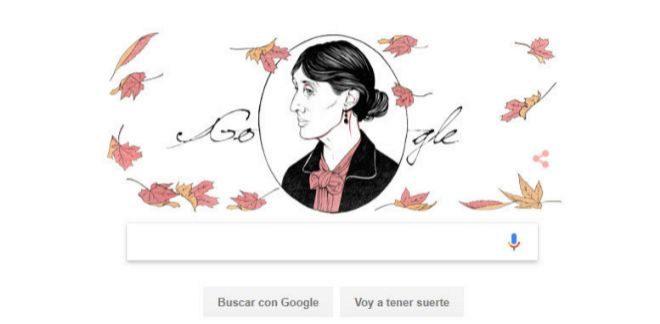 El doodle de Virginia Woolf