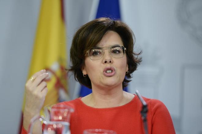 La vicepresidente del Gobierno, Soraya Sáenz de Santamaría